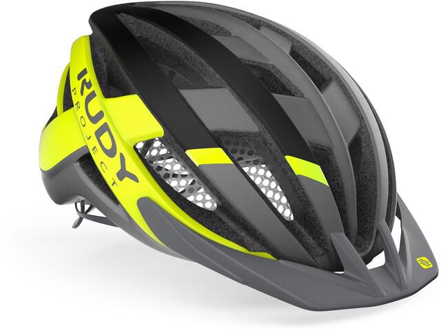 Rudy Project Venger MTB Casco, titanium/yellow fluo matte